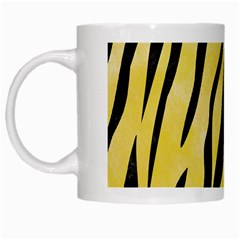 Skin3 Black Marble & Yellow Watercolor White Mugs