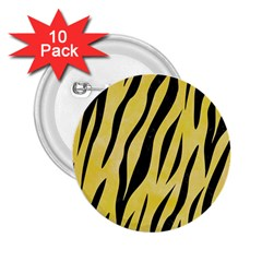 Skin3 Black Marble & Yellow Watercolor 2 25  Buttons (10 Pack)