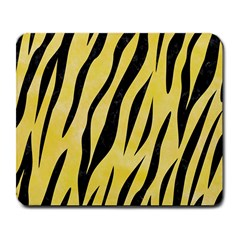 Skin3 Black Marble & Yellow Watercolor Large Mousepads
