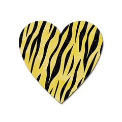 Skin3 Black Marble & Yellow Watercolor Heart Magnet