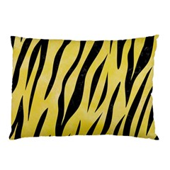 Skin3 Black Marble & Yellow Watercolor Pillow Case