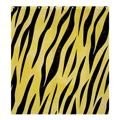 Skin3 Black Marble & Yellow Watercolor Shower Curtain 66  X 72  (large)