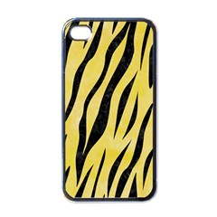 Skin3 Black Marble & Yellow Watercolor Apple Iphone 4 Case (black)