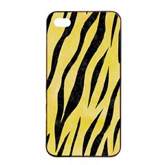 Skin3 Black Marble & Yellow Watercolor Apple Iphone 4/4s Seamless Case (black)