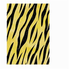 Skin3 Black Marble & Yellow Watercolor Large Garden Flag (two Sides)