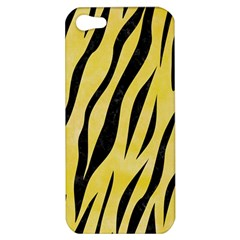 Skin3 Black Marble & Yellow Watercolor Apple Iphone 5 Hardshell Case