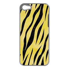 Skin3 Black Marble & Yellow Watercolor Apple Iphone 5 Case (silver)