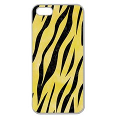 Skin3 Black Marble & Yellow Watercolor Apple Seamless Iphone 5 Case (clear)