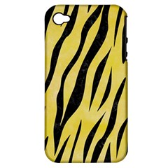 Skin3 Black Marble & Yellow Watercolor Apple Iphone 4/4s Hardshell Case (pc+silicone)