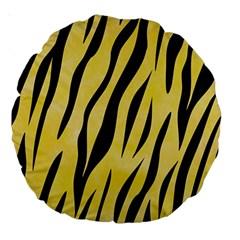 Skin3 Black Marble & Yellow Watercolor Large 18  Premium Round Cushions