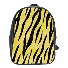 Skin3 Black Marble & Yellow Watercolor School Bag (xl)