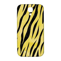Skin3 Black Marble & Yellow Watercolor Samsung Galaxy S4 I9500/i9505  Hardshell Back Case