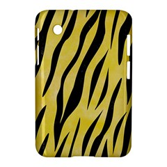 Skin3 Black Marble & Yellow Watercolor Samsung Galaxy Tab 2 (7 ) P3100 Hardshell Case