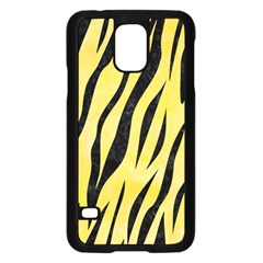 Skin3 Black Marble & Yellow Watercolor Samsung Galaxy S5 Case (black)