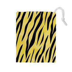 Skin3 Black Marble & Yellow Watercolor Drawstring Pouches (large)