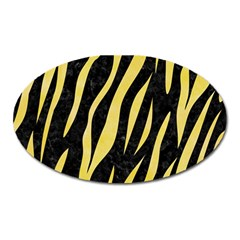 Skin3 Black Marble & Yellow Watercolor (r) Oval Magnet