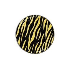Skin3 Black Marble & Yellow Watercolor (r) Hat Clip Ball Marker (4 Pack)