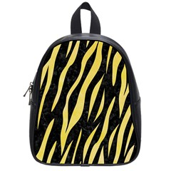 Skin3 Black Marble & Yellow Watercolor (r) School Bag (small)