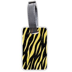Skin3 Black Marble & Yellow Watercolor (r) Luggage Tags (one Side)