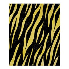 Skin3 Black Marble & Yellow Watercolor (r) Shower Curtain 60  X 72  (medium)