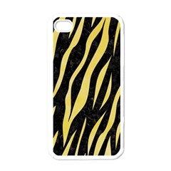 Skin3 Black Marble & Yellow Watercolor (r) Apple Iphone 4 Case (white)