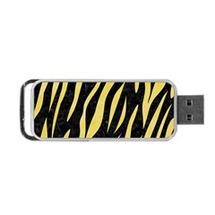 Skin3 Black Marble & Yellow Watercolor (r) Portable Usb Flash (one Side)