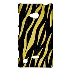 Skin3 Black Marble & Yellow Watercolor (r) Nokia Lumia 720