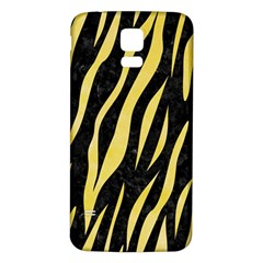 Skin3 Black Marble & Yellow Watercolor (r) Samsung Galaxy S5 Back Case (white)