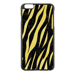 Skin3 Black Marble & Yellow Watercolor (r) Apple Iphone 6 Plus/6s Plus Black Enamel Case