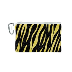 Skin3 Black Marble & Yellow Watercolor (r) Canvas Cosmetic Bag (s)