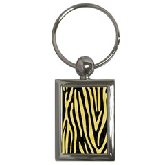 Skin4 Black Marble & Yellow Watercolor Key Chains (rectangle)