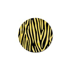 Skin4 Black Marble & Yellow Watercolor Golf Ball Marker (4 Pack)