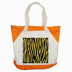 Skin4 Black Marble & Yellow Watercolor Accent Tote Bag