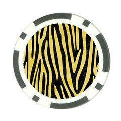 Skin4 Black Marble & Yellow Watercolor Poker Chip Card Guard