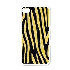 Skin4 Black Marble & Yellow Watercolor Apple Iphone 4 Case (white)