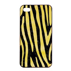 Skin4 Black Marble & Yellow Watercolor Apple Iphone 4/4s Seamless Case (black)