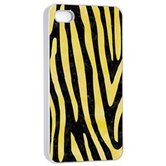 Skin4 Black Marble & Yellow Watercolor Apple Iphone 4/4s Seamless Case (white)