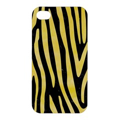 Skin4 Black Marble & Yellow Watercolor Apple Iphone 4/4s Hardshell Case