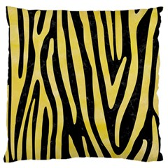 Skin4 Black Marble & Yellow Watercolor Large Cushion Case (two Sides)