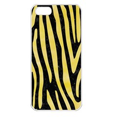 Skin4 Black Marble & Yellow Watercolor Apple Iphone 5 Seamless Case (white)