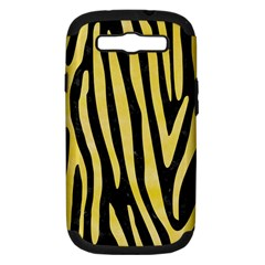 Skin4 Black Marble & Yellow Watercolor Samsung Galaxy S Iii Hardshell Case (pc+silicone)