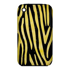 Skin4 Black Marble & Yellow Watercolor Iphone 3s/3gs