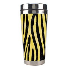 Skin4 Black Marble & Yellow Watercolor Stainless Steel Travel Tumblers