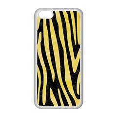 Skin4 Black Marble & Yellow Watercolor Apple Iphone 5c Seamless Case (white)