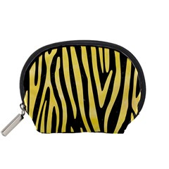 Skin4 Black Marble & Yellow Watercolor Accessory Pouches (small)