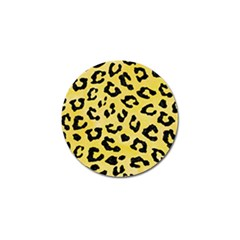 Skin5 Black Marble & Yellow Watercolor (r) Golf Ball Marker (10 Pack)