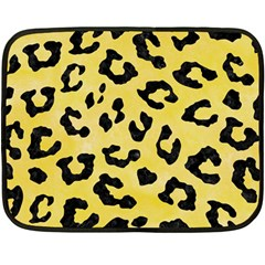 Skin5 Black Marble & Yellow Watercolor (r) Fleece Blanket (mini)