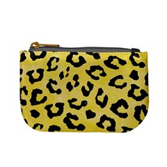 Skin5 Black Marble & Yellow Watercolor (r) Mini Coin Purses