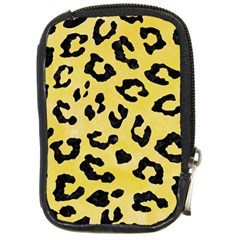 Skin5 Black Marble & Yellow Watercolor (r) Compact Camera Cases