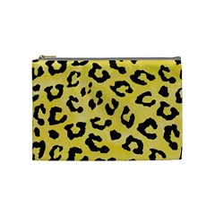 Skin5 Black Marble & Yellow Watercolor (r) Cosmetic Bag (medium)